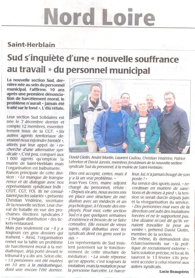 Le syndicat SUD de la Ville de Saint-Herblain