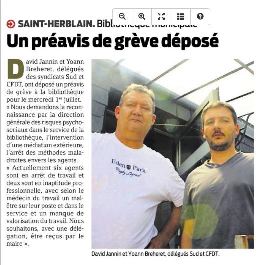 Un préavis de grève déposé par SUD CT Saint-Herblain