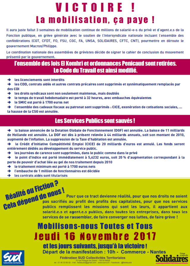 Tract appel grève