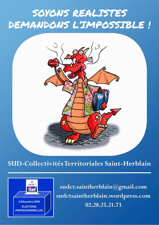 Soyons réalistes demandons l'impossible ! Syndicat Saint-Herblain