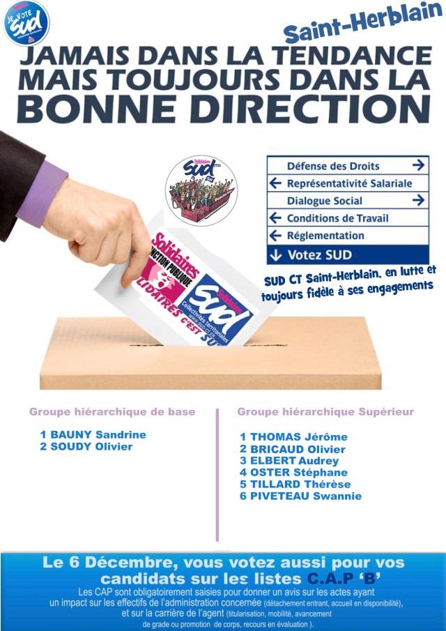 Elections professionnelles Saint-Herblain Syndicat