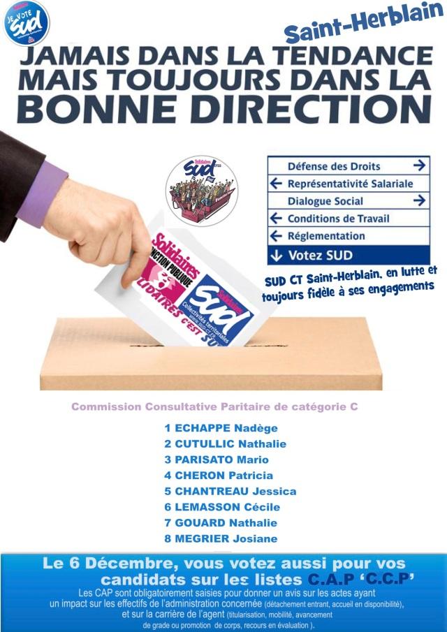 Elections professionnelles Saint-Herblain