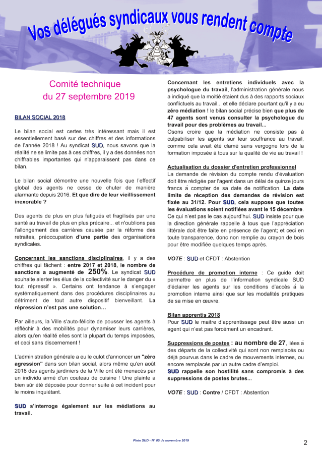 Journal Syndicat SUD CT Saint-Herblain