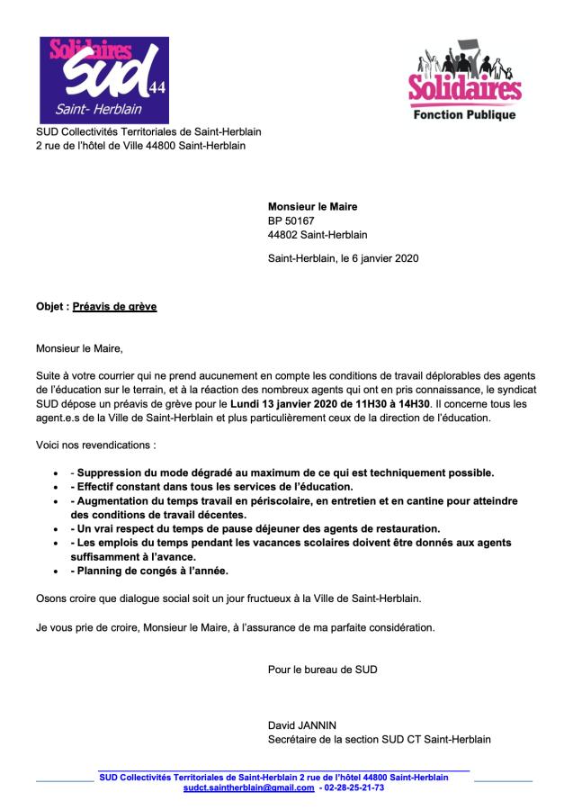 Grève Mairie de Saint-Herblain