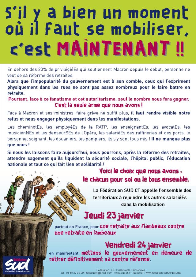 Marches aux flambeaux et grève interprofessionnelle 23 et 24 janvier !