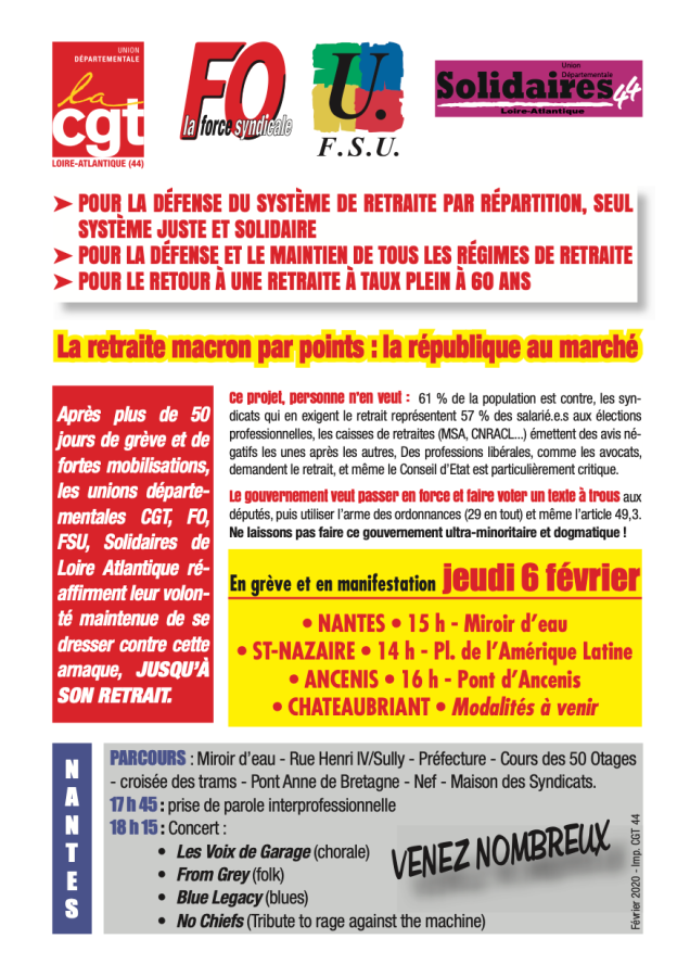 Grève Nantes 6 FÉVRIER 2020