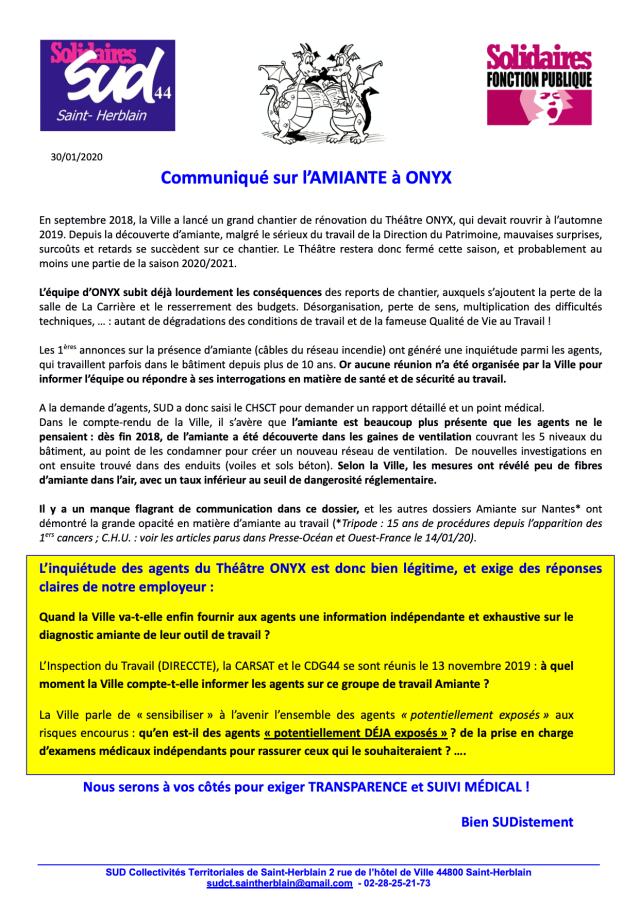 Amiante Théâtre ONYX