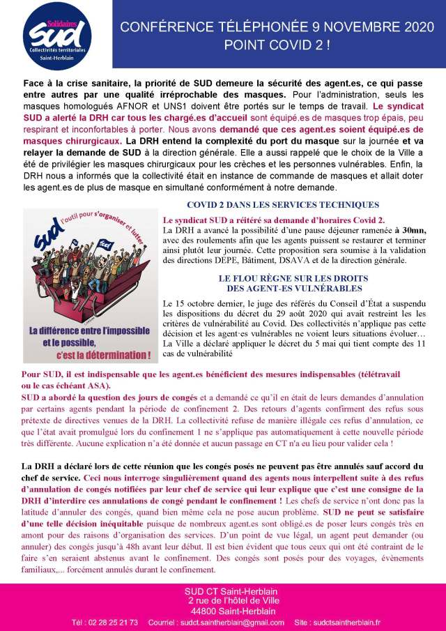 crise sanitaire Saint-Herblain
